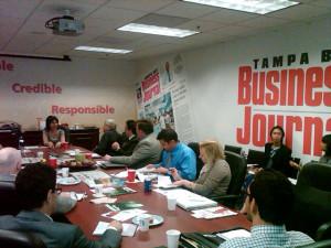 Tammy Levent speaking to Biz Journal